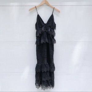 Kendall + Kylie Jenner Tiered Lace Dress